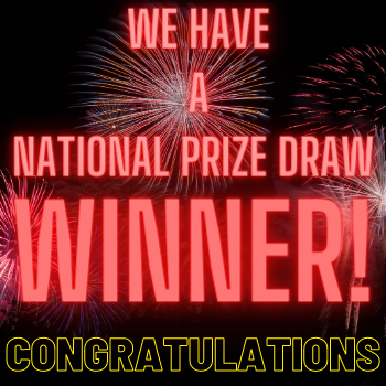 We have a national prize draw winner! Congratulations